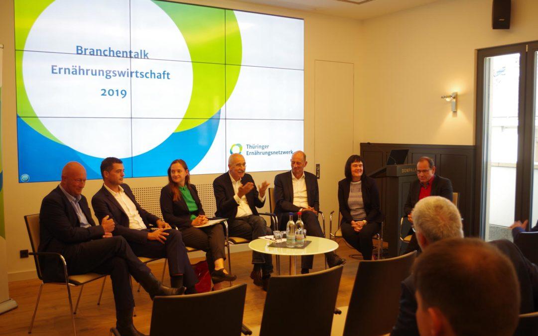 Podiumsdiskussion beim Thüringer Ernährungsnetzwerk